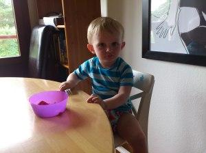 Big boy at table